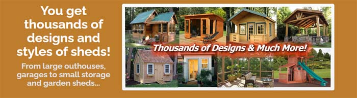 thousands woodworking shed plans